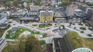 Overzichtsfoto plein transformatie Belastingkantoor Emmen